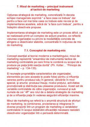 Mixul de Marketing - Tocilar ro