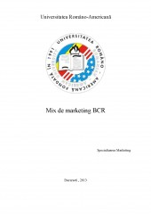 Mix de Marketing BCR